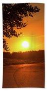 Golden Road Sunrise Bath Towel