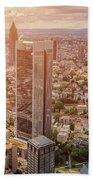 Golden Skyscrapers Of Frankfurt Bath Towel