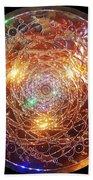 Golden Spiral Copper Lightmandala Bath Towel by Robert Thalmeier