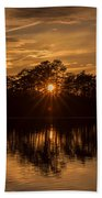 Golden Sunburst At The Lake New Jersey  Bath Towel