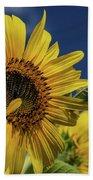 Golden Sunflower Bath Towel