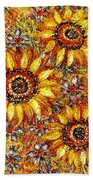 Golden Sunflower Bath Towel
