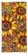 Golden Sunflower Hand Towel