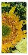 Golden Sunflower Yellow Bouquet By Kaye Menner Bath Towel
