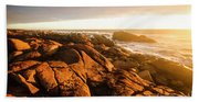 Golden Sunset Coast Bath Towel