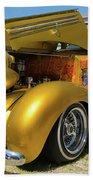 Golden Vintage Dodge Bath Towel