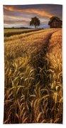 Golden Waves Of Grain Bath Towel
