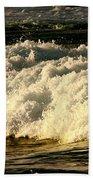 Golden White Wave Bath Towel