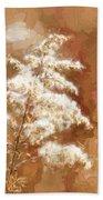Goldenrod Plant In Fall Bath Towel