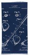 Golf Club Patent 1910 Blue Bath Towel