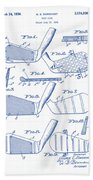 Golf Clubs Patent Drawing Bath Towel