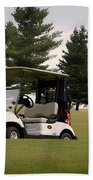 Golfing Golf Cart 01 Bath Towel