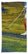 Golfing Putting The Ball 02 Pa Bath Towel