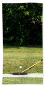 Golfing Sand Trap The Ball In Flight 02 Hand Towel