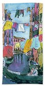 Gondola In A Venetian Canal Bath Towel