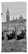 Gondolas Of San Marco Square Bath Towel