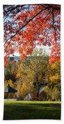 Gonzaga With Autumn Tree Canopy Bath Towel
