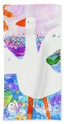Goose At The Beach Hand Towel