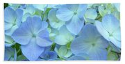 Gorgeous Blue Colorful Floral Art Hydrangea Flowers Baslee Troutman Bath Towel