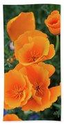 Gorgeous Orange California Poppies Bath Sheet