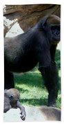 Gorillas Mary Joe Baby And Emonty Mother 6 Bath Towel