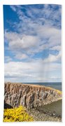 Gorse At Cullernose Point Bath Towel
