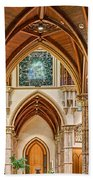Gothic Arches - Holy Name Cathedral - Chicago Bath Towel