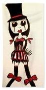 Gothic Burlesque Girl Bath Towel