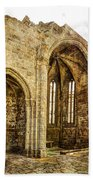Gothic Temple Ruins - San Domingos - Vintage Version Bath Towel
