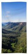 Govetts Leap Lookout Panorama, Australia Bath Towel