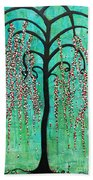 Graceful Willow Print Hand Towel