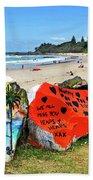 Graffiti At The Beach Bath Towel