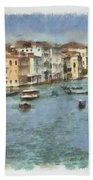 Grand Canal In Venice Bath Towel