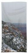 Grand Canyon In Snow Bath Towel