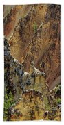 Grand Canyon Of The Yellowstone From North Rim Drive Bath Towel