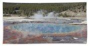 Grand Prismatic Spring, Midway Geyser Bath Towel