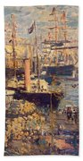 Grand Quai At Havre Bath Towel