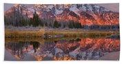 Grand Teton Snake River Sunrise Reflections Hand Towel