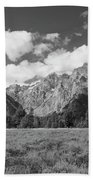 Grand Tetons In Black And White Bath Towel