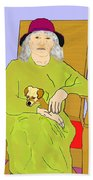 Grandma And Puppy Hand Towel