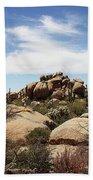 Granite Boulders And Saguaros  Bath Towel