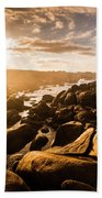 Granville Harbour Tasmania Sunrise Bath Towel