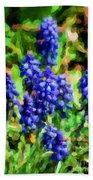 Grape Hyacinths  Bath Towel