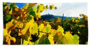 Grape Leaves And The Sky Hand Towel