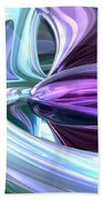 Grapes And Cream Abstract Bath Towel