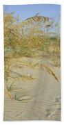 Grass On The Beach Sand Bath Towel