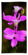 Grass Pink Orchid Bath Towel