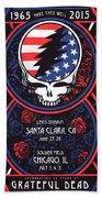 Grateful Dead Santa Clara Ca Hand Towel