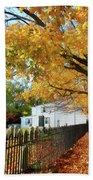 Graveyard In Autumn Bath Towel