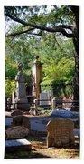 Graveyard In Charleston Bath Towel